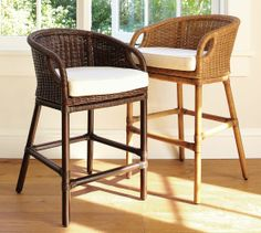 Bar :: Wingate Rattan Barstool | Pottery Barn (dark)