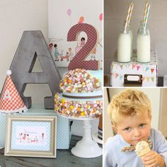 Old-Fashioned Birthday Party with Sarah Jane Designs. Oh my I love this.