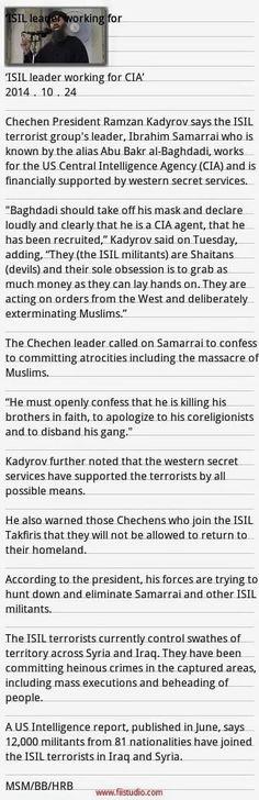 ISIL のリーダーはCIA のために働いている-ISIL = Mossad CIA