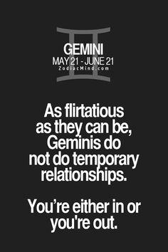 Gemini Relationship...