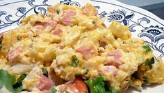 "Creamy ham & ""potato"" casserole #ham #cauliflower"
