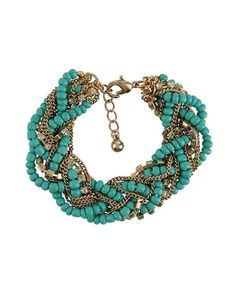 Turquoise Braided Chain Bracelet