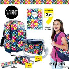 Szkoła nie musi być wcale szara i nudna… może być kolorowa! :) Skompletuj szkolną wyprawkę z kolekcji Paperdot Kalejdoskop. Z takimi gadżetami i akcesoriami szkolnymi na pewno się wyróżnisz :)