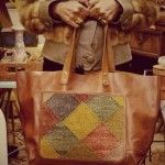 me thinks these vintage kilim patch and leather tote is really all you need for your boho self.