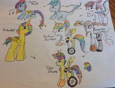 RainbowBeat, Striped Stars, and AmberHaze Fusion for @STRIPEDstars and @NaomiShizuko by @TS46386
