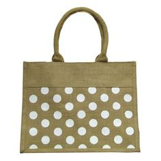 Natural & Cream Polka Dot Jute Handbag | Shop Hobby Lobby $6.99