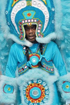 Mardi Gras Indian on Super Sunday 2010 in New Orleans. (Photo from flickr, courtesy of Groovescapes)
