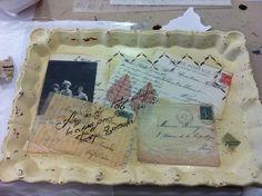 Bandeja Vintage realizada en taller lascasitasdepapel