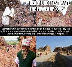 Never underestimate the power of one.