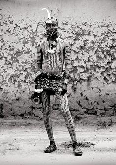 ORIGIN. 'Hamar man with body painting. Turmi, Ethiopia' by Eric Lafforgue.