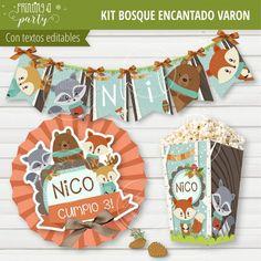 Animalitos Woodland Theme, Woodland Party, Woodland Creatures, Woodland Animals, Party In A Box, Baby Room Decor, Birthdays, Fox, Holiday Decor