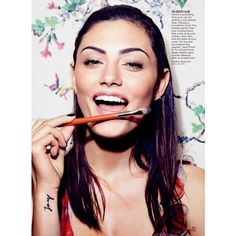 Phoebe Tonkin by Dusan Reljin for Glamour US April 2014 ❤ liked on Polyvore featuring phoebe tonkin