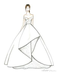 f41b4dc03b5 ball gown wedding dress sketch by catie stricker howell allure .
