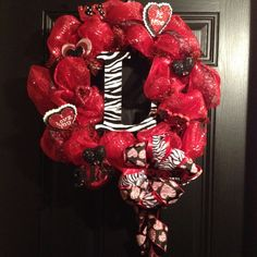 Monogramed Valentine Wreath! Too cute!