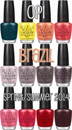 OPI Brazil Collection for Spring - Summer 2014