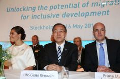 Princess Victoria attended the opening of the forum on migration and development in the company of Ban Ki Moon, Secretary General of the UN and the Swedish Prime Minister. The conference was held in Stockholm.