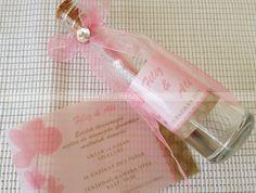 Cam şişede düğün davetiyesi