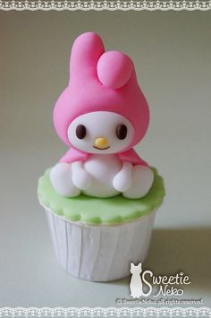 My Melody 3D cupcake by SweetieNeko Homemade Sweets