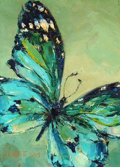 Butterfly series: blue/green
