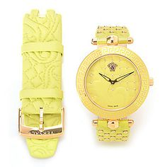 Versace Women's Vanitas Swiss Made Quartz Watch w/ Two Leather Straps