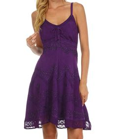 Take a look at this S Apparel Purple Lace Sleeveless A-Line Dress - Plus Too today!