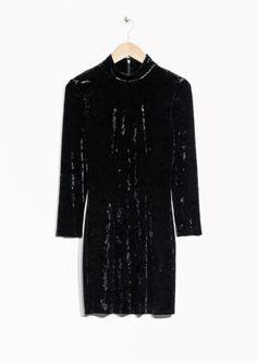 & Other Stories | Turtleneck Velvet Dress