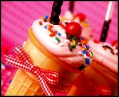 Cupcake Ice Cream Cones by leanna