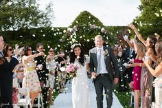 notley abbey outdoor ceremony, rose petal confetti, flower crown, flower arch, lace wedding dress