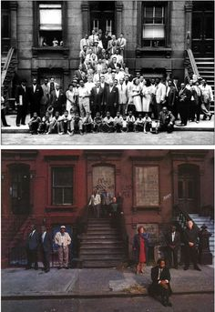 A Great Day in Harlem - Art Kane, 1958 A Great Day in Harlem Survivors - Gordon Parks, 1996