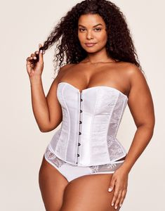 Get hooked on our bestselling, curve-hugging corset—now in a NEW, bright-white hue (that's perfect for brides-to-be). Women Lingerie, Sexy Lingerie, Garter Belt And Stockings, Elegant Maxi Dress, Curvy Plus Size, Strings, Bra And Panty Sets, Yes To The Dress, Polished Look