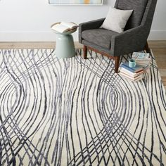 Sarah Campbell Linear Ogee Wool Rug