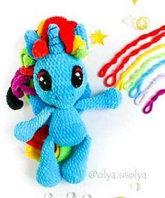 Crochet Unicorn Blanket, Crochet Unicorn Pattern Free, Crochet Animal Patterns, Stuffed Animal Patterns, Crochet Blanket Patterns, Doll Patterns, Crochet Blankets, Cute Crochet, Crochet For Kids