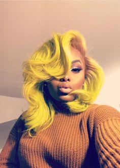 Yellow hair  Pinterest: lifeasivana