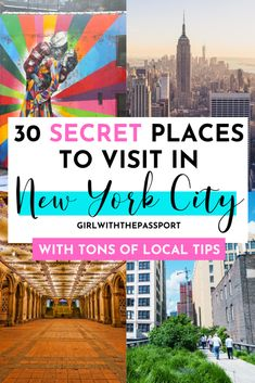 secret places to visit in NYC Want to see NYC like a local? Then read this list of 23 unusual things to do in NYC. It has a ton of secret places that most locals don't even know about! New York Travel Guide, Usa Travel Guide, New York City Travel, Travel Usa, Travel Tips, Travel Packing, Passport Travel, Packing Tips, Places To Travel