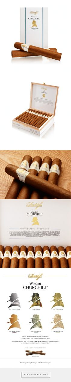 Winston Churchill Cigars - #Cigars of Character #packaging by DewGibbons + Partners - http://www.packagingoftheworld.com/2015/01/winston-churchill-cigars-cigars-of.html