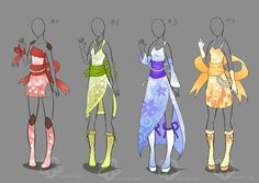 Kimono Inspired Outfits - sold by Nahemii-san.deviantart.com on @deviantART