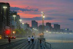 Leblon early in the morning,Rio de Janeiro by Fernando Quevedo