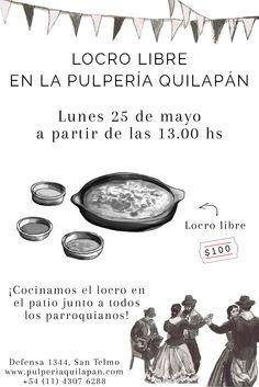 Locro libre a $100 en la Pulpería ¿Qué más pedir?  #25deMayo http://pulperiaquilapan.com/event/locro-libre/?instance_id=4364481