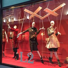 """BROWN THOMAS, Dublin, Ireland, """"Listen Shona... We're all puppets, but once you see the strings, you learn how to pull them"""", photo by Floralesque, pinned by Ton van der Veer"""