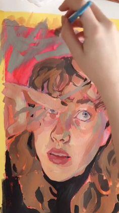 Watercolor Bird, Watercolor Animals, Watercolor Paintings, Watercolor Techniques, Gouache, Art Boards, Cute Art, Art Reference, Watercolor Portrait Tutorial