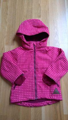 Pink gepunktete Softshelljacke