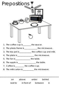 Imagini pentru preposition worksheets in on under