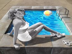 3d street art -Streetpainting -Rita-TStum by Tracy Lee Stum, via Flickr