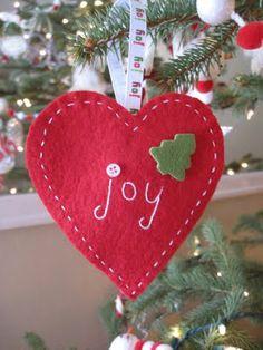 Easy Felt Christmas Ornaments | French Knots: Simple, Sweet Felt Ornaments
