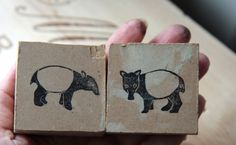 tapirstempel12 Getting Up Early, Wood Carvings, Stamps, Crafting