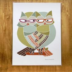 I've had my eye on this owl print forever. It's like the me-est thing ever.
