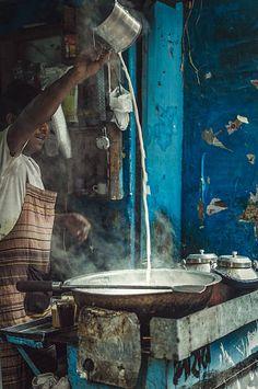 Milk for chai - Tea Delhi, India