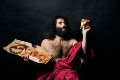 People Pose with Junk Food in the Style of Renaissance Paintings (7 pictures)