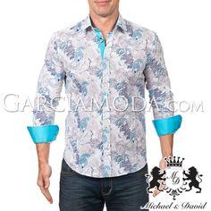 Camisa Michael & David Luxury Menswear MD-602-NAVY