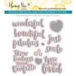 Honey Bee Stamps - Honey Cuts - Steel Craft Dies - Beautiful Life